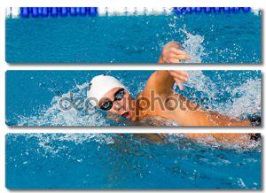 Makedonian плавание гонки Греции