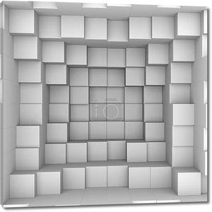 Абстрактный фон. Белые куб