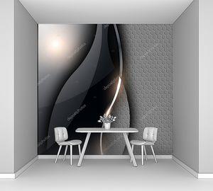 Абстрактный  металлический черный фон