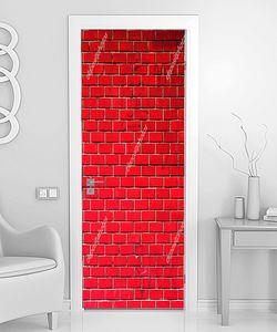 Стена из красного кирпича