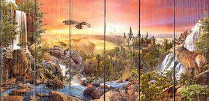 Закат над водопадами