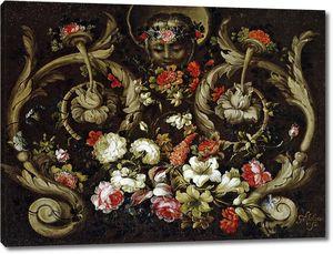 Корте Габриэль де ла. Маска с цветами