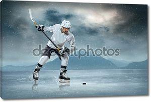 Игрок  в хоккей  на льду