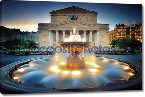 Москва, фонтан возле большого театра