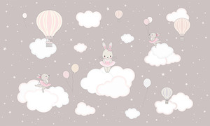 Зайчики на облачках