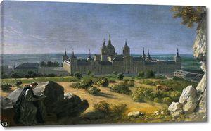 Уасс Мишель Анж. Вид на монастырь Эскориал