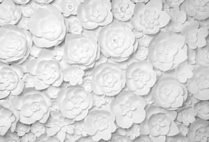Цветы белой бумаги