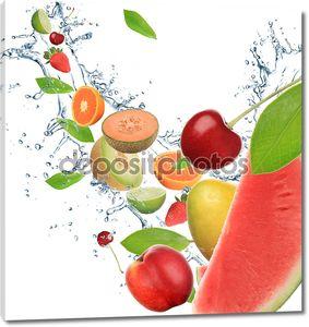 Тропические фрукты в движении