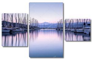 Яхт-гавань на закате