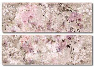 Нежные цветы с узорами