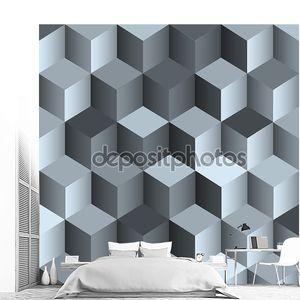 3D монохромный фон с кубом
