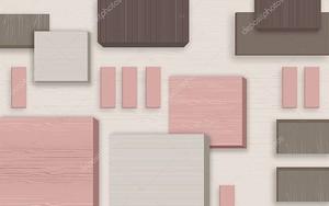 Розовые, серые и коричневые прямоугольники