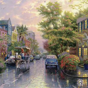 Милая улочка в дождливый день