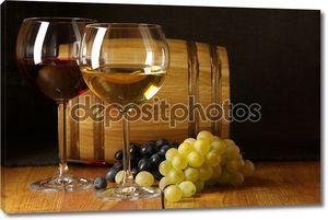 вино, виноград и ствол