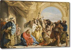 Джованни Доменико Тьеполо. Христос и женщина, обвиненная в прелюбодеянии