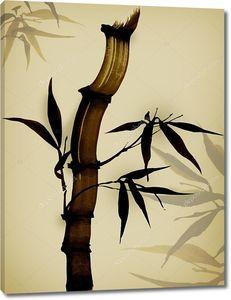 Открытка из бамбука