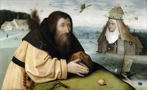 Босх Иероним. Искушение святого Антония (мастерская)