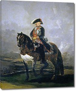 Гойя и Лусиентес Франсиско де. Карлос IV на коне