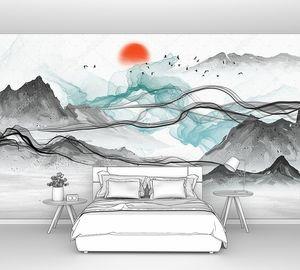 Солнце над серыми горами