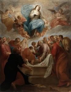 Хуан де Альфаро.  Успение Пресвятой Богородицы