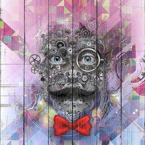 Абстрактное лицо с усами