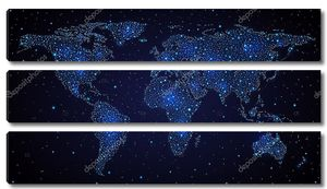 Карта мира в ночном небе