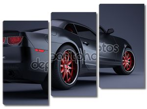 Черный элегантный автомобиль