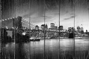 Черно-белый Бруклинский мост