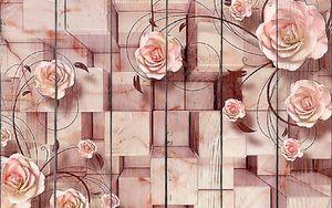 Мраморные кубы и розы