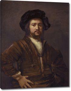 Рембрандт. Портрет подбоченившегося мужчины