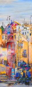 Рисованные городские дома