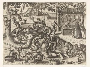 Питер ван дер Борхт. Спящий торговец, лишенный обезьян