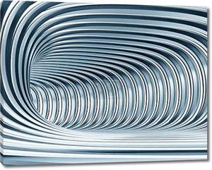 Абстрактные металлические туннель как футуристический фон