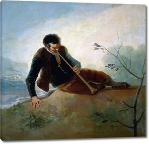 Гойя и Лусиентес Франсиско де. Пастух с флейтой