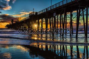 Oceanside Пирс на закате