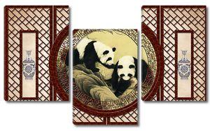 Декоративная решетка с пандами