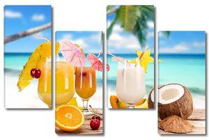Разнообразные фруктовые коктейли