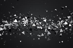 Абстрактные 3d рендеринга летающих пирамиды.