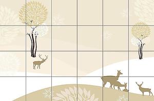 Кафельная плитка с оленями
