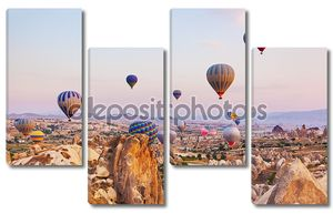 Воздушный шар пролетел над Каппадокии Турция
