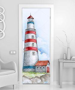 Рисунок маяка с домиком
