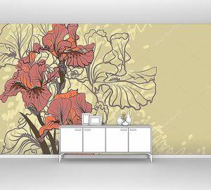 Декоративный рисунок ирисов