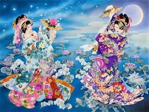 Японки в лунном свете