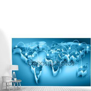 Синяя карта мира