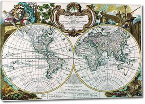Старая карта мира