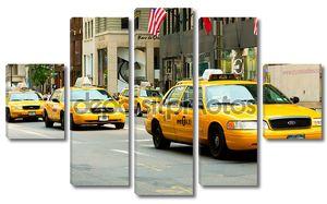 Знаменитое желтое такси Нью-Йорка