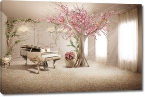 Комната с роялем