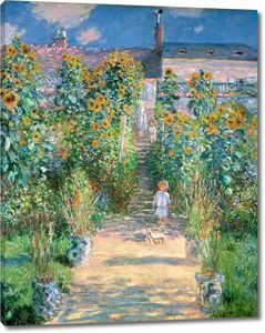 Моне Клод. Сад художника. Ветей, 1880