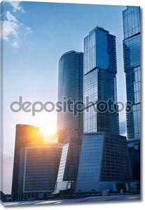 Современные небоскребы бизнес центр в Москве