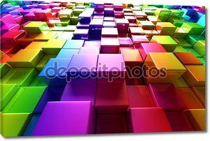 Красочные кубы